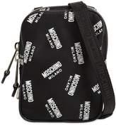 Moschino Logo Printed Nylon Crossbody Bag