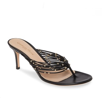 Gianvito Rossi 70mm Glitter Thong Sandal