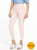 Very Pastel Coated Utility Biker Jean