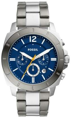 Fossil Privateer Sport Chronograph Two-Tone Stainless Steel Watch jewelry
