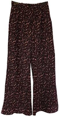 Acne Studios Burgundy Velvet Trousers
