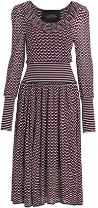 Marc Jacobs The Knit Blouson-Sleeve Midi Dress