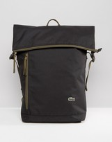 Lacoste Rolltop Backpack In Black