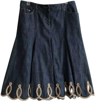 Alexander McQueen Blue Denim - Jeans Skirt for Women
