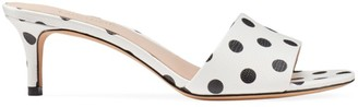 Kate Spade Savvi Polka Dot Leather Mules