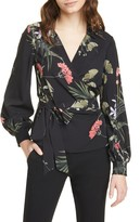 Ted Baker Yayah Highland Floral Wrap Front Blouse