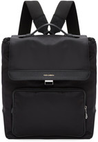 Dolce & Gabbana Black Nylon Backpack