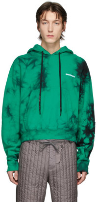 Off-White Green Tie-Dye Contour Hoodie