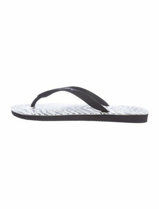 Saint Laurent x Havaianas Rubber Flip Flops Black