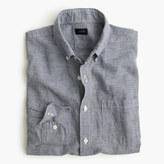 J.Crew Slim Irish linen-cotton shirt in houndstooth