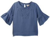 Lucky Brand Eyelet Embroidered Shirt (Little Girls)