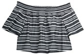 Girl's Maddie Woven Off The Shoulder Top