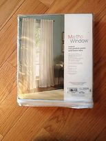 Martha Stewart Jcp Cool White Rod-pocket Panel Back Tabs 50w X 72l $90