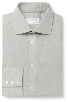 Kingsman + Turnbull & Asser Cotton And Cashmere-Blend Shirt