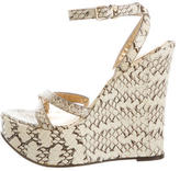 Dolce & Gabbana Embossed Wedge Sandals