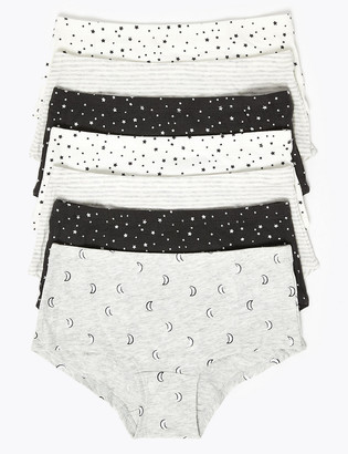 Marks and Spencer 7 Pack Star Shorts (2-16 Yrs)