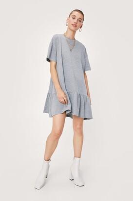 Nasty Gal Womens Name Drop Tee Mini Dress - Grey