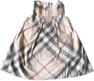 Burberry Beige Cotton Dresses