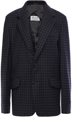 Maison Margiela Gingham Wool-blend Blazer