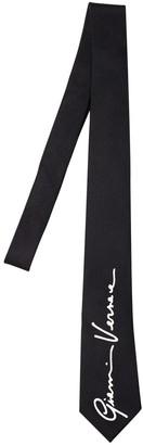 Versace 70mm Signature Logo Silk Tie