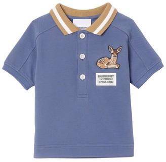 Burberry Kids Deer Patch Polo Shirt (6-24 Months)
