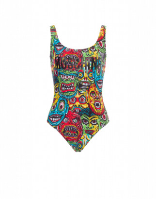 Moschino Monsters One-piece Swimsuit Woman Multicoloured Size 38 It - (2 Us)