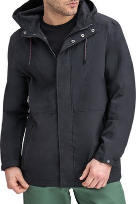 Andrew Marc Barnaby Textured Nylon 4 Pocket Hooded Jacket