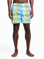 Old Navy Patterned Poplin Boxers for Men