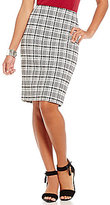 Alex Marie Romantic Semantics Elsie Glen Plaid Pencil Skirt