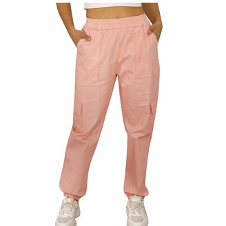 LHHH Trousers Women JoggersWomen Fashion Casual Solid Color Straight-Leg Slim Pants Overalls with Pocket