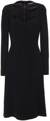 Dolce & Gabbana Fluted Crepe Dress