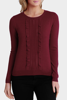 Basque Cable Frill Front Jumper