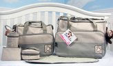 SOHO designs Ellie & Luke (Sage) Diaper Bag with Changing Pad 6 Pieces Set