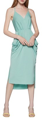 BCBGeneration Sleeveless Draped Midi Dress