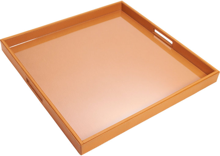 Barneys New York Large Square Leather Tray