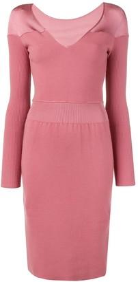 Alaïa Pre-Owned V-Neck Knit Dress