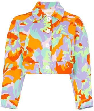 Cap Celeste jacquard cropped jacket