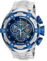 Invicta 21343 Men's Bolt Reserve Chronograph SS Black MOP Dial Blue Accents