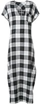 OSKLEN checked maxi dress - women - Cotton - M