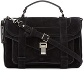 Proenza Schouler Black Suede Medium PS1 Satchel
