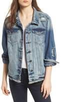 STS Blue Frayed Denim Boyfriend Jacket