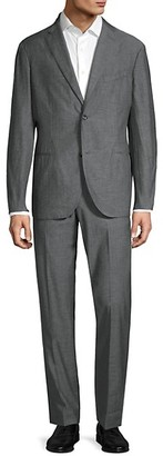 Boglioli Classic-Fit Single-Breasted Chambray Suit