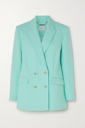 RALPH & RUSSO Wool And Silk-blend Crepe Blazer - Mint