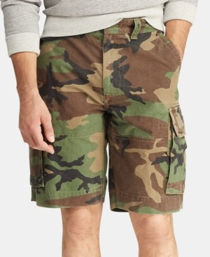 """Polo Ralph Lauren Men's Big & Tall Relaxed Fit 10"""" Camouflage Cotton Cargo Shorts"""