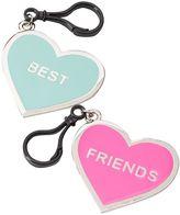 2-pk. BFF Heart Keychains