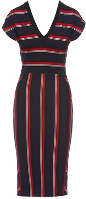 Nissa Striped Print Bodycon Dress