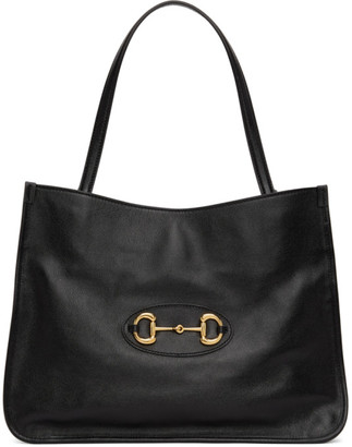 Gucci Black 1955 Horsebit Medium Tote