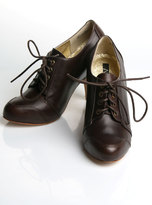 Footwear Ruth Lace Up Bootie in Brown Leather