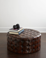 Horchow Timothy Tufted Ottoman