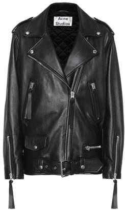 Acne Studios New Myrtle leather jacket